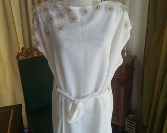tunic with gold flowers