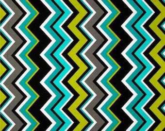 Michael Miller Lagoon Chevy Chevron - 100% Cotton - FQ - 1/2 Cuts Left - Chevron Fabric