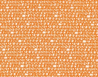 Cloud 9 Scribbles Orange by Ed Emberley's Picture Pie Collection - 100% Certified Organic cotton