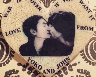 John Lennon and Yoko Ono Pin