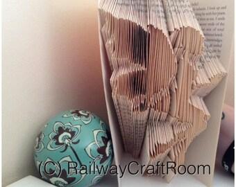 Book folding pattern Goth fairy