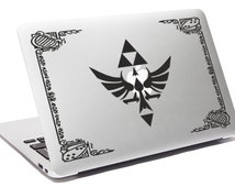 LEGEND OF ZELDA decal Hylian Laptop decal Hylian shield decal Apple Macbook decal Link decal Notebook decal Macbook Zelda sticker