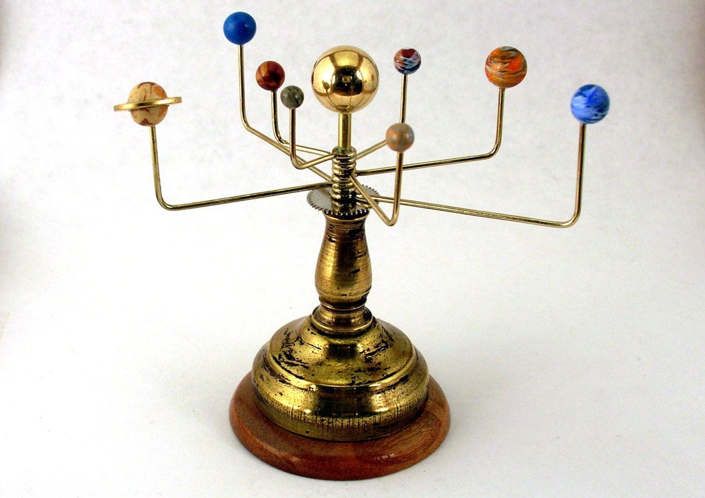 brass solar system model - photo #5