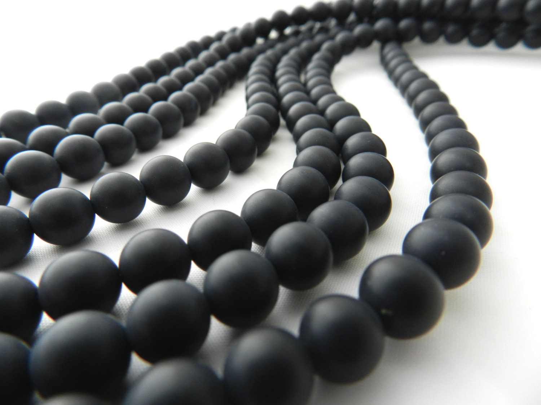 black onyx matte black onyx 8mm bead matte black beads