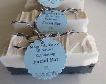 Magnetic force charcoal bar soap (handmade)