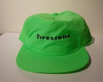 Retro Firestone Neon Snapback Hat