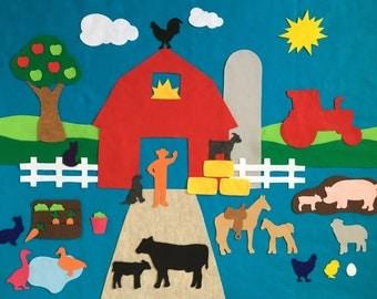 3'x4' Felt Board Set - Farm