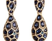 Vintage dangle&drop Earrings with Czech crystals - Vintage Jewelry