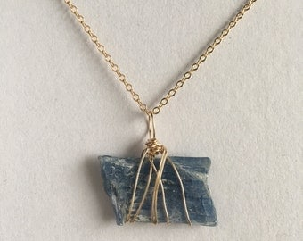 Blue Kyanite in Gold and Reiki
