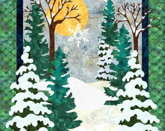 Snow Day - Winter Landscape Quilt Pattern - Instant Download PDF & SVG