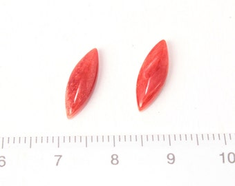 red oyster shell marquise shape loose/2pcs/L-0023