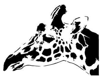 "6/6"" giraff stencil 1."