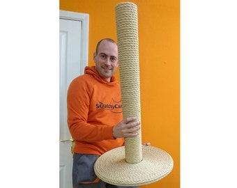 Quality 100% Sisal Large Cat Scratching Post - Handmade by ScratchyCats