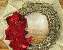 Christmas Wreath; Red Christmas Wreath; Christmas Door Decor; Winter Wreath; Xmas Wreath; Red Wreath; Country Christmas Wreath; Front Door