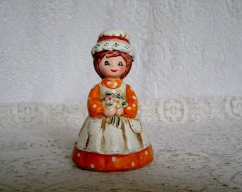 Vintage Country Girl Figurines, collectable home decor cottage chic decoration housewares retro victorian french country made in Japan
