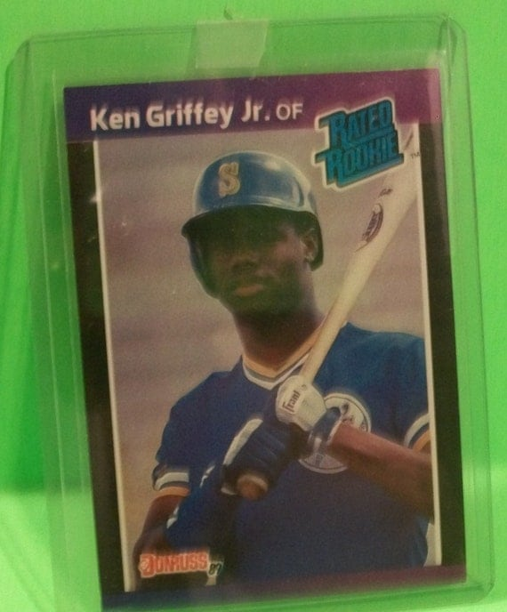 Lot Of 5 Rookie Baseball Cards With Ken Griffey Jr 1989: 1989 Donruss Ken Griffey Jr Rated Rookie MLB Baseball Rookie