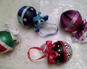 Christmas Ornaments Home Decor Holiday Tree Hand Decorated