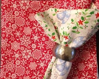 Christmas Fabric Napkins (set of 2)