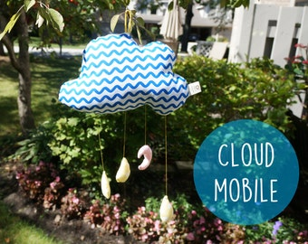 Sale! cloud mobile, baby mobile, crib mobile, nursery cloud mobile, nursery decor