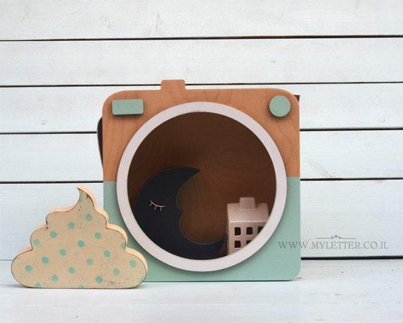 Kindergarten kamera kamera regal hölzerne kamera von myletterdeco
