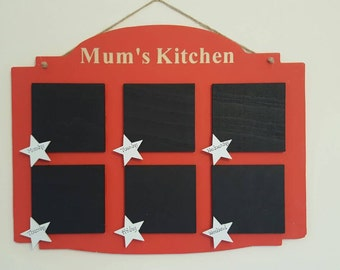 Personalised Engraved Kitchen Meal Weekly Planner