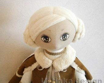 Textile girl doll, cute art ooak doll, interior cloth doll, heirloom doll, interior doll, decorative dolls, unique textile doll, cute dolls