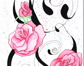 Roses Watercolour (Print)