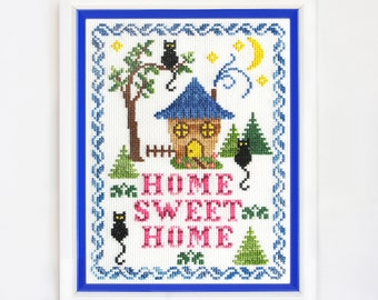 Finished embroidery cross stitch Home sweet home Original gift cosiness Handmade Home Decor Wall bright lodge Cross Stitch household