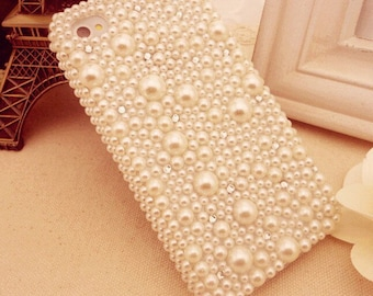 Beautiful pearl iPhone hard case Bling iPhone case