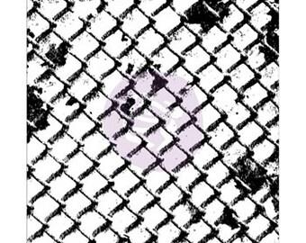 Prima - 2.5x3'' Clear Stamp - Wire Net