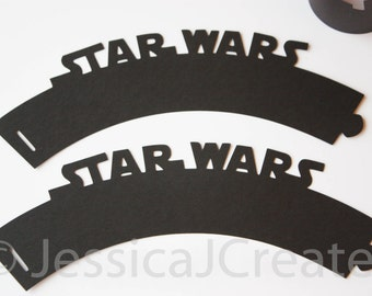 Star Wars Cupcake Wrappers - Cupcake Wrappers - Star Wars Party - Storm Trooper - Yoda - Darth Vader