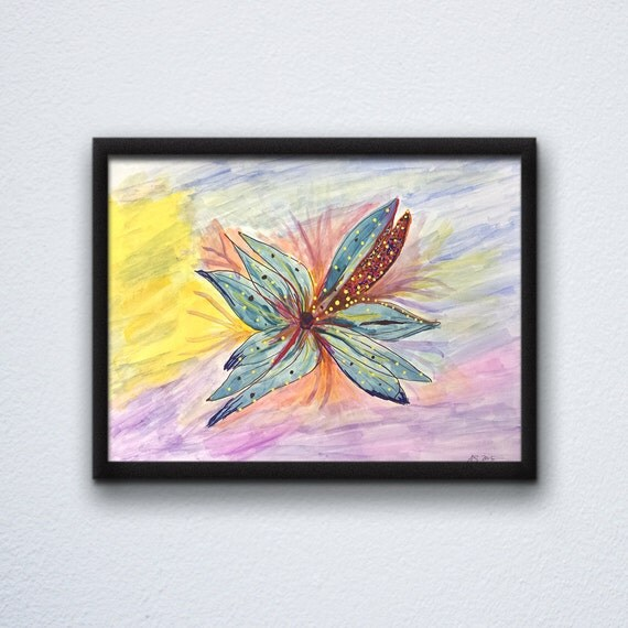 Flower Painting - Original Painting - Abstract Painting - Mixed Media Painting - Mixed Media Art - Small Abstract Painting - Original Art
