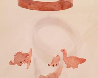 Wooden nursery mobile - dinosaurs