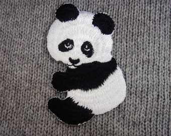Panda Embroidered Applique Iron on Patch