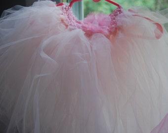 LIGHT Pink BALLERINA Tulle TUTU, Wedding, Flower Girl Tutu, Photo, Pink Tutu, Birthday Tutu, Ballerina Tutu, Dance tutu, Princess party tutu