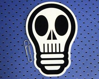 Skull Bulb Bumper Sticker