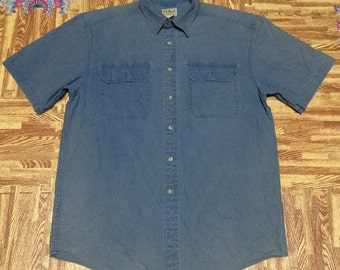 mint LL Bean Freeport maine denim shirt outdoor workwear