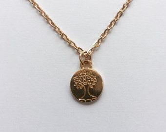SALE... TIny Tree Of Life Necklace, Family Tree, Family Jewelry, Dainty, Simple
