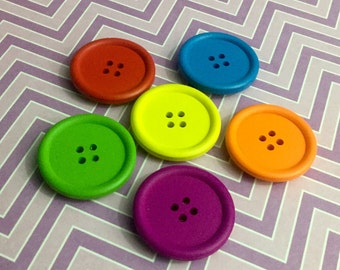 Button Magnets - Chunky Colours