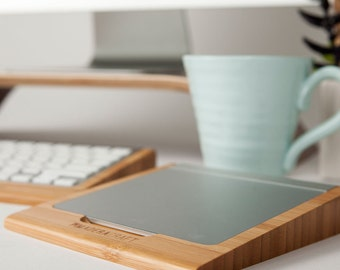 Bamboo Apple Trackpad Holder