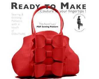PDF Sewing Pattern - Womens High Fashion Handbag Purse Vintage Style Dress Sewing Pattern
