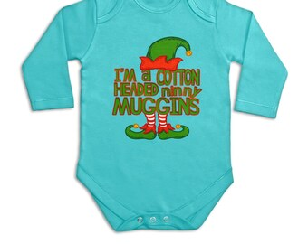 Cotton Headed Ninny Muggins long sleeve baby grow