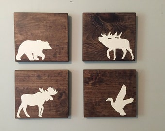 Animal Silhouettes (Set of 4)
