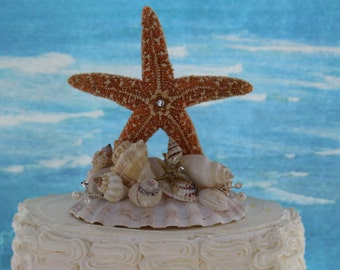 Starfish Cake Topper/ Beach Themed Topper/ Destination Wedding