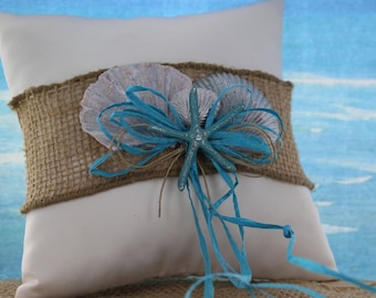 Starfish Ring Bearer Pillow/ Beach Themed Wedding/ Destination Wedding / Ring Bearer / Ring Pillow / Wedding pillow / Weddings
