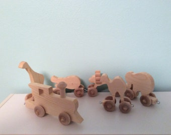 Five animal train set (you choose which five animals)