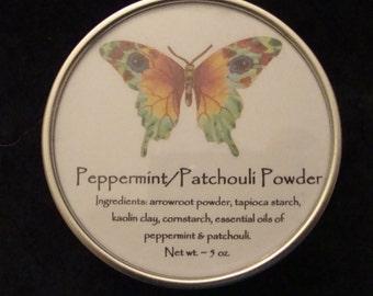 Peppermint/Patchouli Powder, Powder, Body Powder, Natural Powder, Talc Free Powder, Dusting Powder