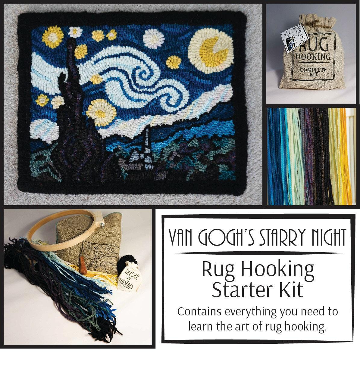 Rug Hooking Kit Van Gogh S Starry Night Wool By