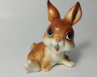 20% OFF, Vintage Bunny Figurine,  Norcrest Crafted In Japan, Brown Rabbit Figurine, Thumper Figurine, Animal Figurine