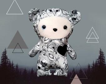 Small shaman Vegan wildlife plush teddy bear
